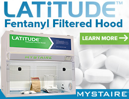 Mystaire® Latitude Fentanyl Filtered Hood is designed for safe, effective containment of fentanyl